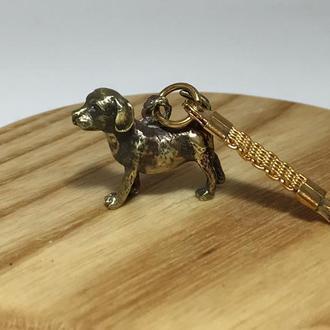 Брелок «Собака» бронза
