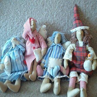 Набор кукол Тильда «Пижамная вечеринка»