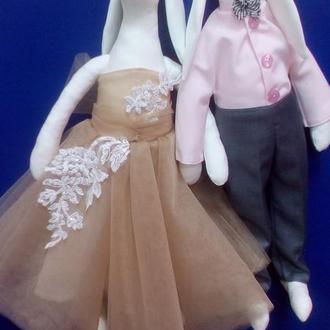 Куклы тильды неразлучные зайки