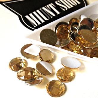 Акриловые стразы золото 10 мм