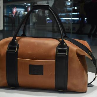 Трансформер кожаная сумка - рюкзак Sport & Travel DS