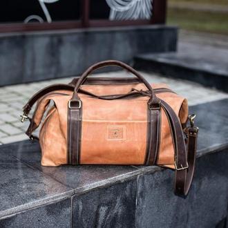 Спортивная и дорожная сумка из натуральной кожи Sport&Travel DS