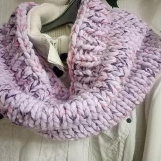 Объемный шарф-снуд