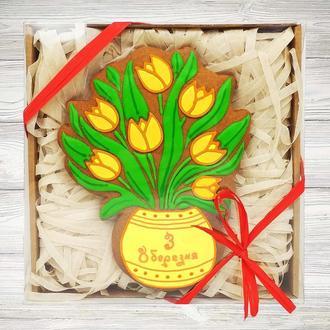 Подарочный пряник «Букет тюльпанов»