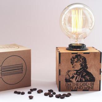 Светильник- ночник с гравировкой Игры Престолов