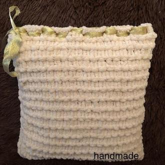 Вязаный чехол на подушку (наволочка)