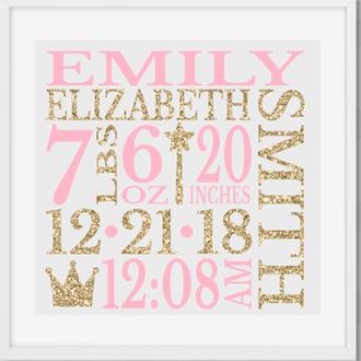 Постер метрика в детскую Корона Crown