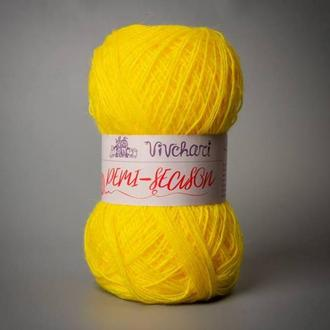 Пряжа для вязания Vivchari демисезон 761 желток