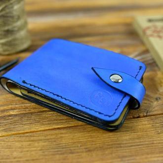 Кожаный портмоне с натуральной кожи  8.5х12см. кошелек мужской