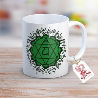 Чашка Индия. Йога. Чакра Анахата (Сердечная чакра)