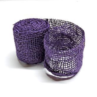 Лента из мешковины фиолетовая 6см