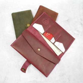 Кожаное портмоне  - Женское портмоне из натуральной кожи