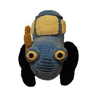Вязаная мягкая игрушка Синий Трактор