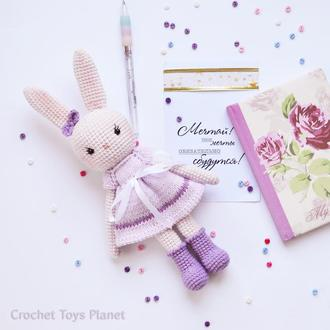 В'язана іграшка зайка / Вязаная игрушка зайка