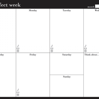 Еженедельник Weekly planner My perfect week Классик