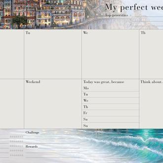 Еженедельник Weekly planner My perfect week Вдохновляющий