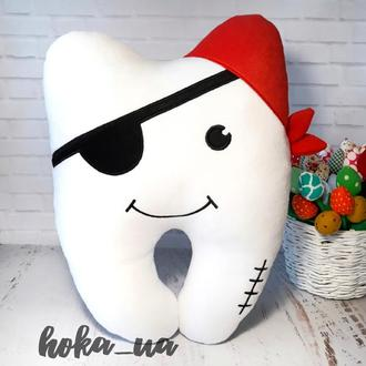 Мягкая игрушка - подушка Зуб Пират