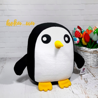 Мягкая игрушка - подушка пингвин Гантер, Гюнтер, Время приключений