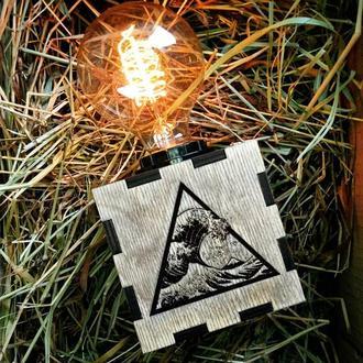 Светильник Ночник из Дерева «Волна»