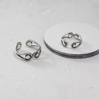 Серебряное кольцо с шариками