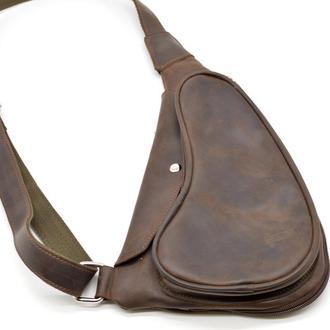 Кожаный рюкзак на одно плечо (косуха) из лошадиной кожи RC-3026-3md бренд Tarwa
