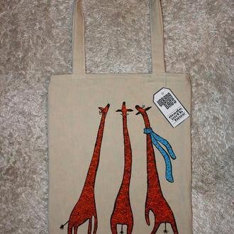 Сумка Трио жирафов