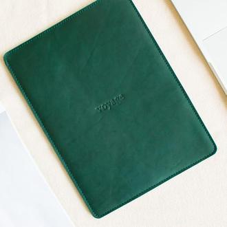 """Кожаный чехол для MacBook 12"""",13"""",15"""" - PELTA (Green)"""