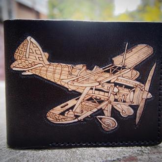 Кожаный кошелек Биплан  CMKn29a