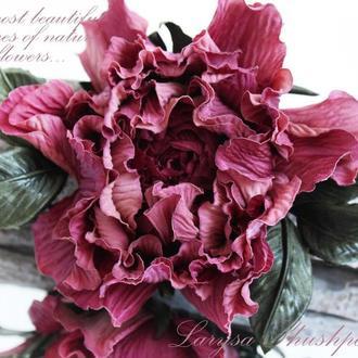 Брошь-заколка роза «Подарок осени». Цветы из ткани.