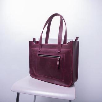 Сумка женская большая CaseBag, сумка для ноутбука, кожаная сумка, шкіряна жіноча сумка