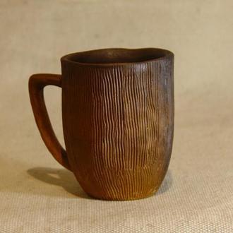 керамическая чашка натурального молочения