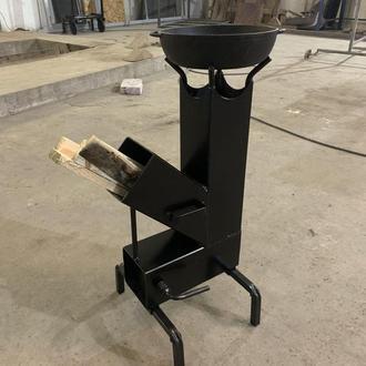 Ракетна пічка, походная печка, печь дачна