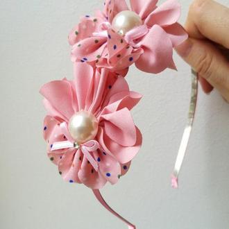 Ободок с цветами Цветы в волосы