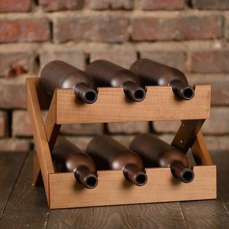 Подставка деревянная для хранения вина. Lacrima.