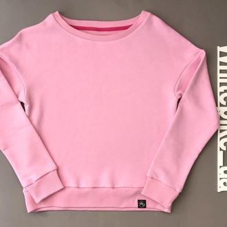 Розовый свитшот