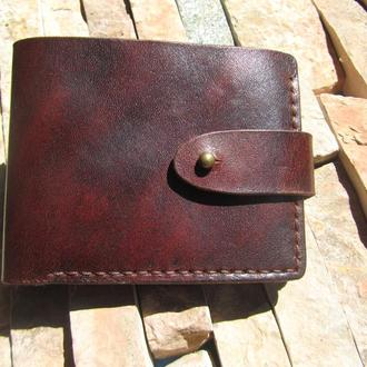 мужской кожаный кошелек кошельки для монет и денег бумажники мужские кожаные ПОДАРОК мужчине