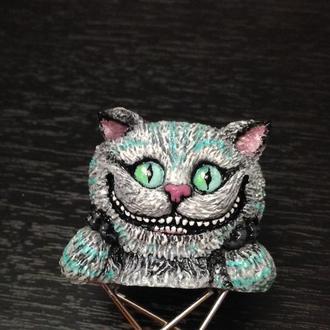 Закладка для книги Чеширский кот. Bookmark Cheshire cat. Bookmark Alice in wounderland