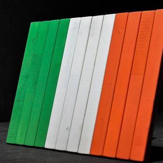 """Настенный декор панно """"Флаг Ирландия"""" Натуральное дерево  Отличный подарок ."""