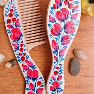 Набор расчесок для волос Ягодка с  росписью