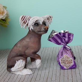 Статуэтка собаки на заказ.Фигурка питомца из полимерной глины на заказ.3д портрет собаки,кошки.