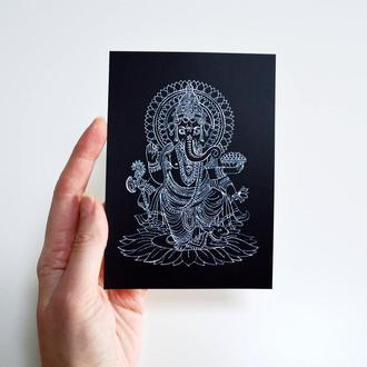 "открытка ""Ганеша"""