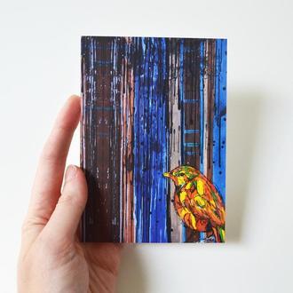 "открытка ""Птица"""