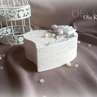 Шкатулка свадебная для колец