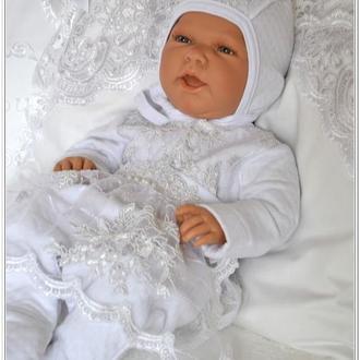 Эксклюзивный набор комплект на выписку для новорожденной Элит