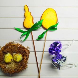 Пряники топперы в паску зайчик + яйцо