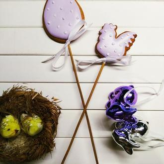 Пряники топперы в паску курочка + яйцо
