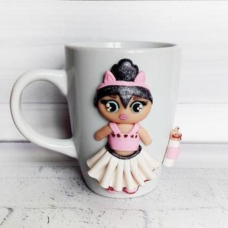 Кружка для девочки Кукла LOL