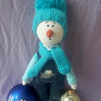 Интерьерная кукла Снеговик