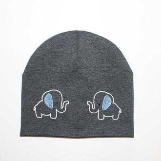 """Детская шапка с вышивкой """"Elephant"""""""