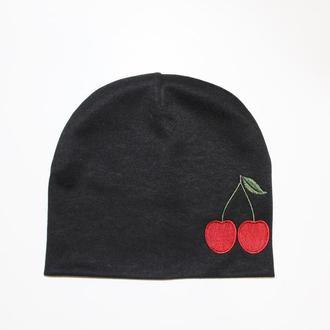 """Детская шапка с вышивкой """"Cherry"""""""